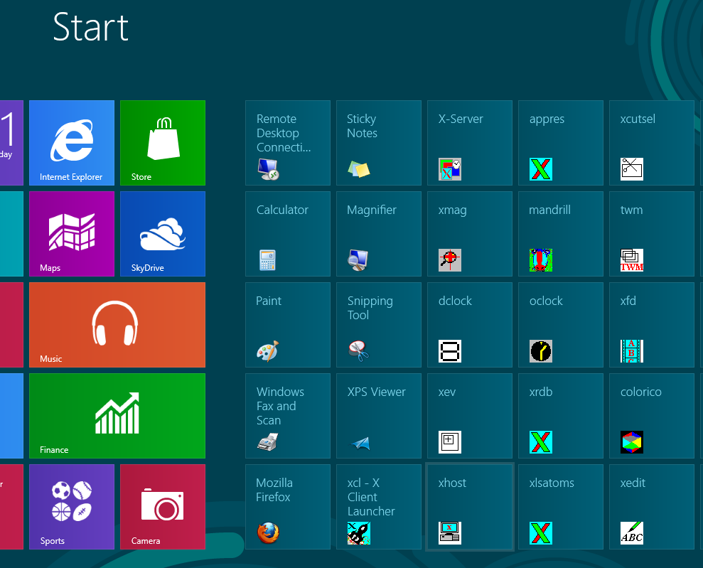 X-Deep/32 Icons on Start page on Windows 8 Preview